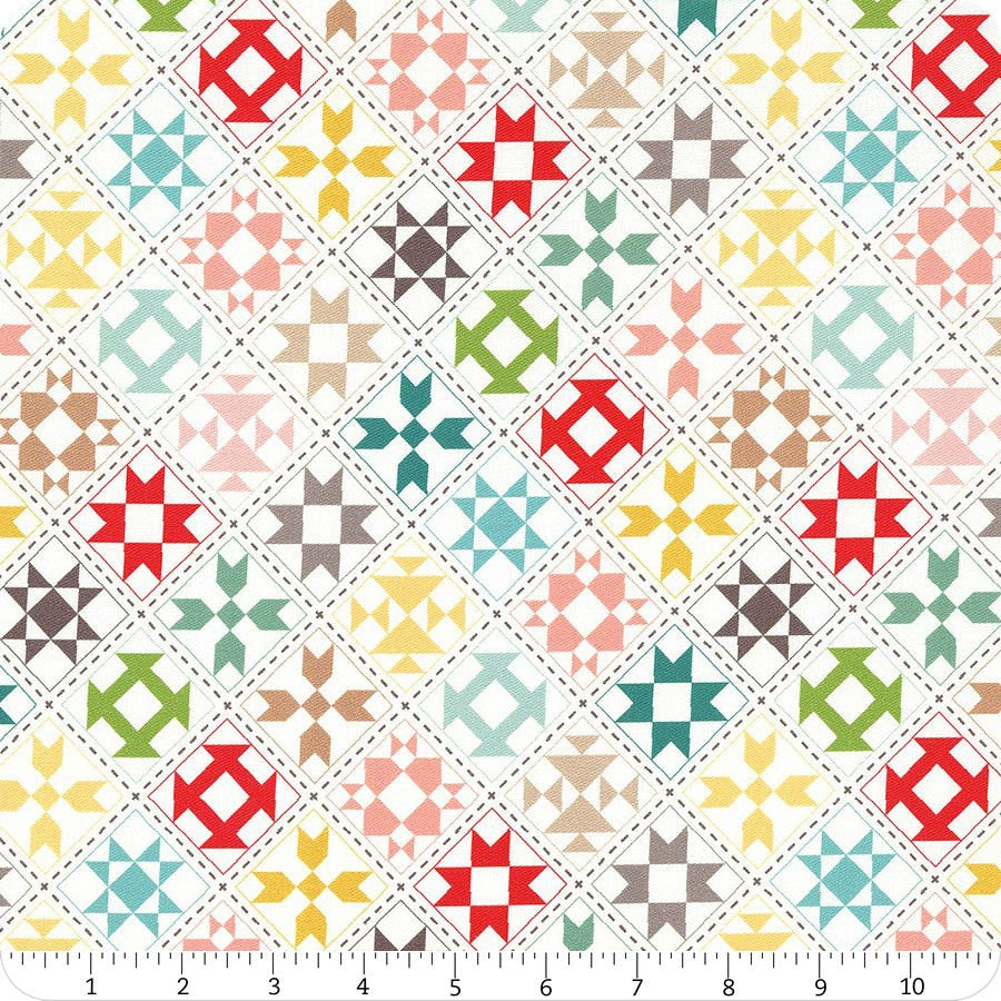 My Happy Place ~ Quilt Blocks ~ Home Decor Fabric