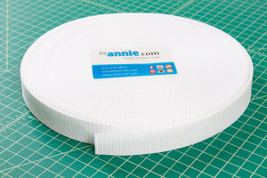 ByAnnie ~ PolyPro Strapping ~ 1 inch x 6 yards ~ White