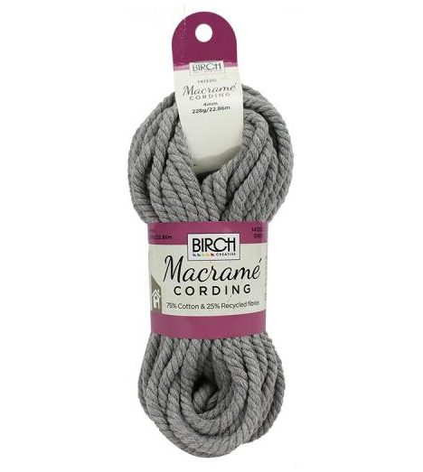 4mm ~ Macrame Cord GREY 22.86m
