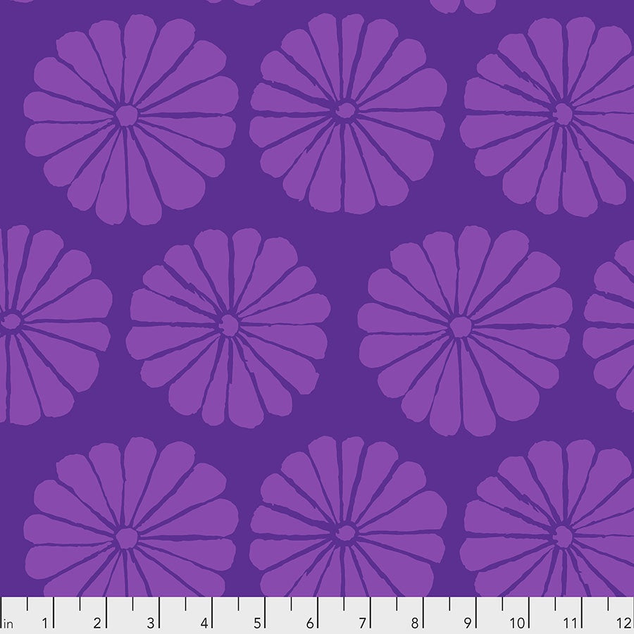PREORDER ~ Kaffe Fasset Collective 2021 ~ Damask Flower PURPLE