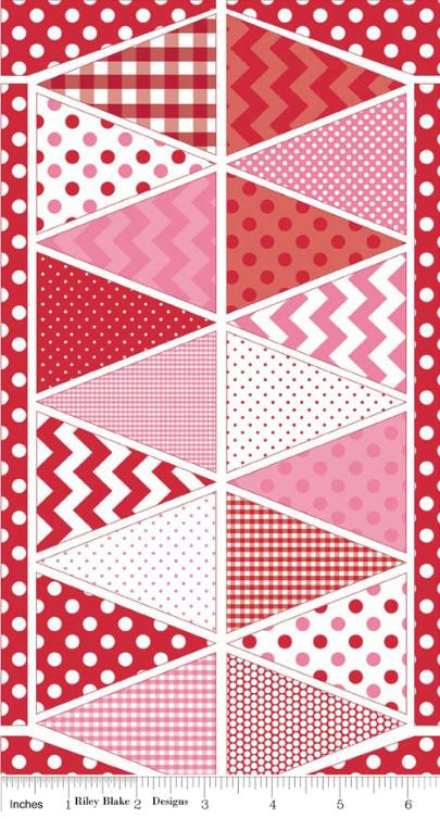 Bunting Panel ~ Red Pink