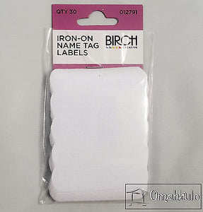 Iron-On Name Tag Labels ~ 30pc