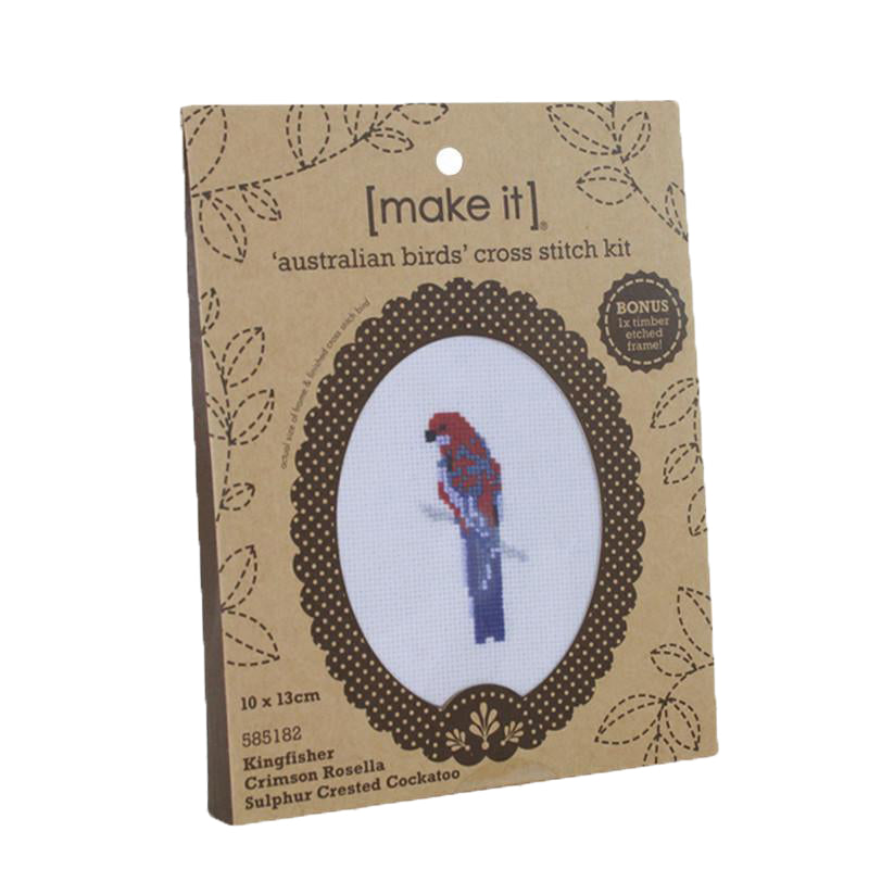 Make it ~ Australian Birds Cross Stitch kit 3pk