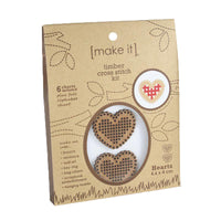 Make it ~ Wooden Heart Cross Stitch Kit
