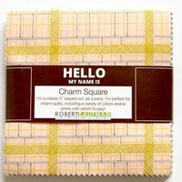 Hello My name is ~ 5inch Charm Square 42pc