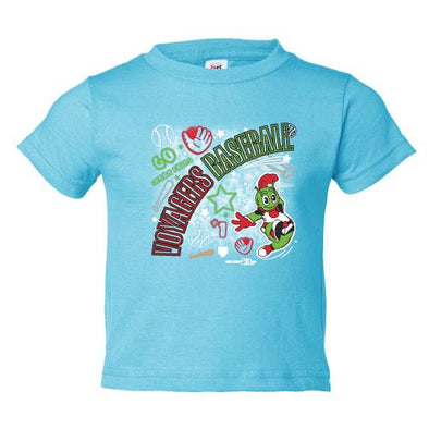 Great Falls Voyagers Toddler Aqua T-Shirt