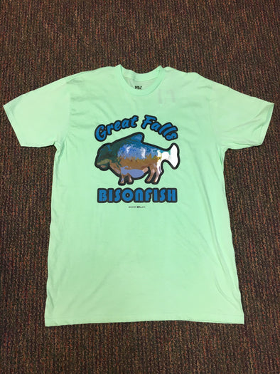 Bisonfish Lime Green Shirt