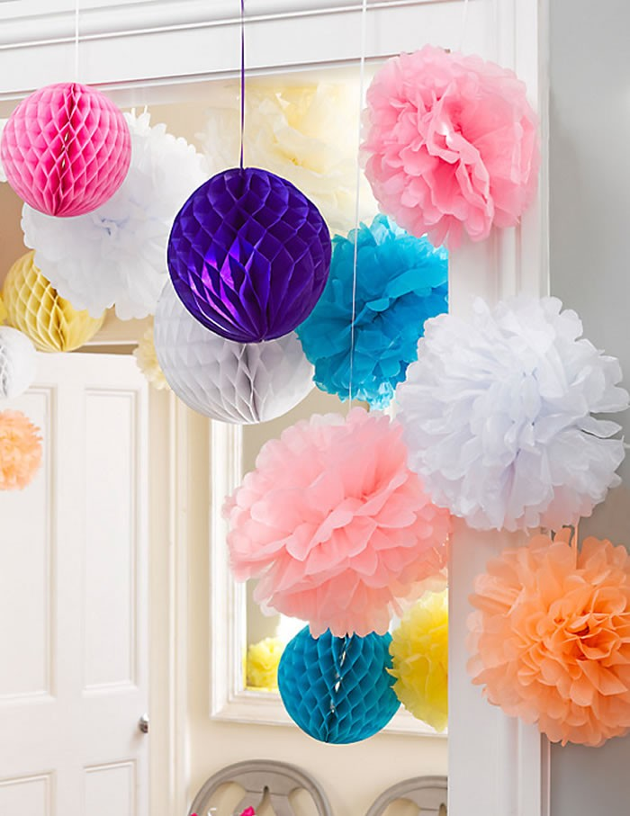 Pom Poms Set of 3 - Macaroon