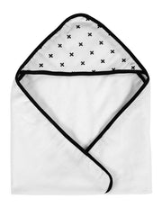 Hooded Baby Towel - Swiss Cross
