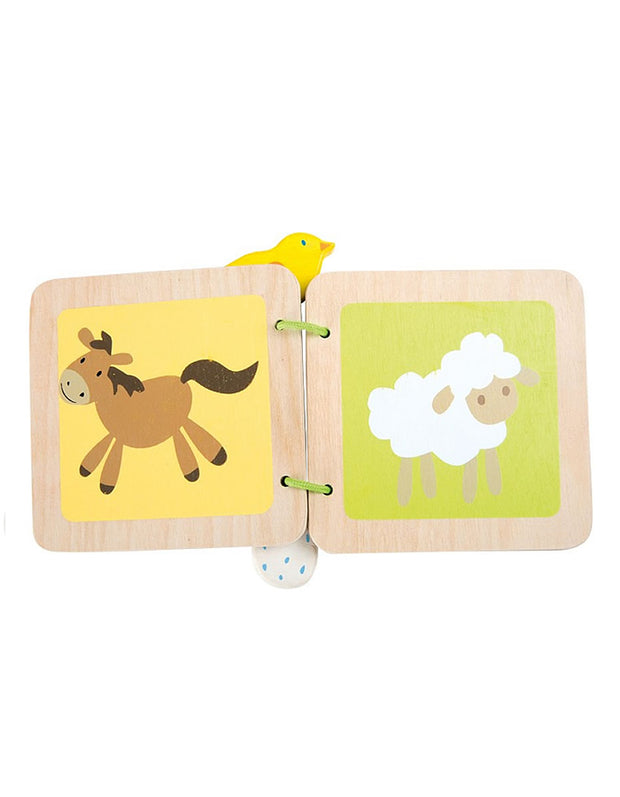 Babys First Wooden Book - Farm
