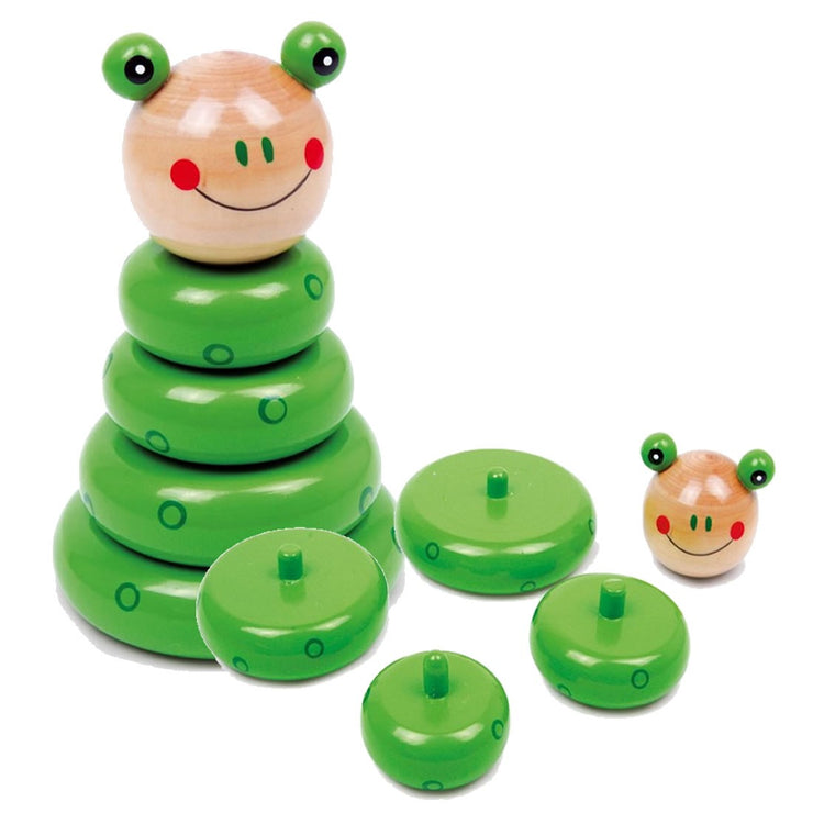Stacking Toy, Wooden - Frog