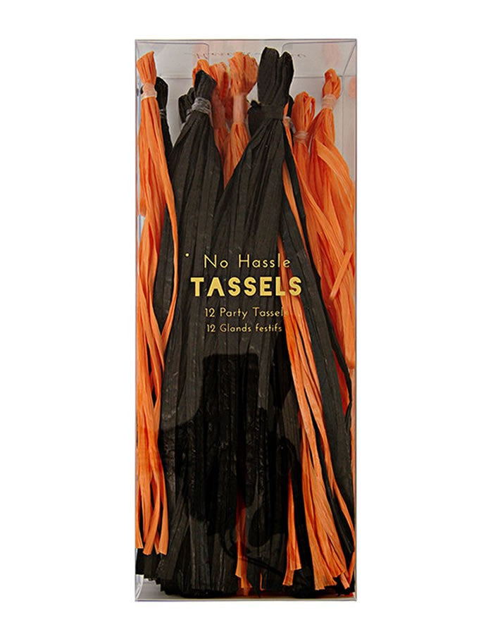 Tassel Garland - Orange/Black