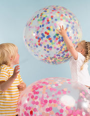 Giant Multicoloured Confetti Balloon Kit