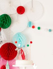Pom Pom Mini Garland - Wool