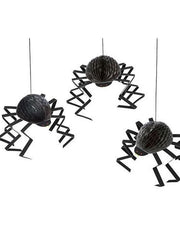Giant Spider Decorations Set Of Six