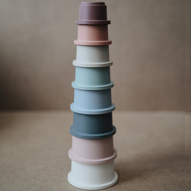 Mushie Stacking Cups - Coastal