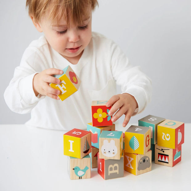 Petit Collage - ABC Wooden Blocks