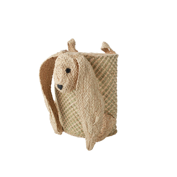 Wall Hung Sea Grass Raffia Bunny Toy Basket