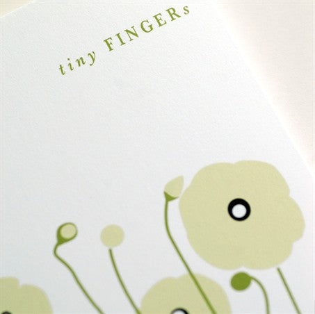 Tiny Fingers Tiny Toes New Arrival / Baby Card
