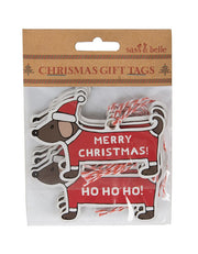 Set of 12 Sausage Dog Gift Tags