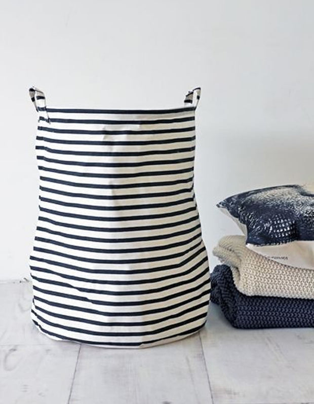 Striped Laundry Basket L