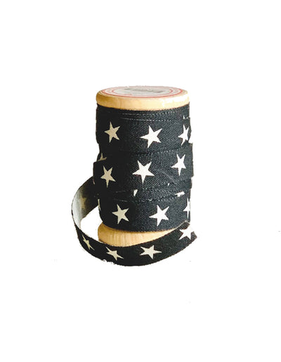 Star ribbon on wooden spool  5 meters
