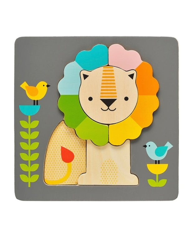 Petit Collage Chunky Wooden Lion Puzzle