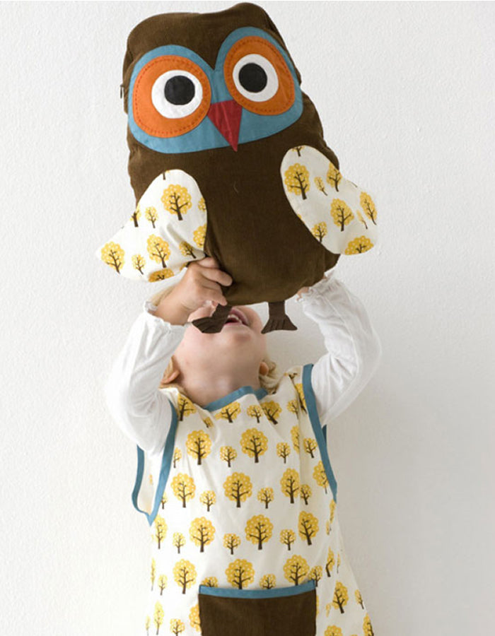 Organic Cotton Owl Cushion