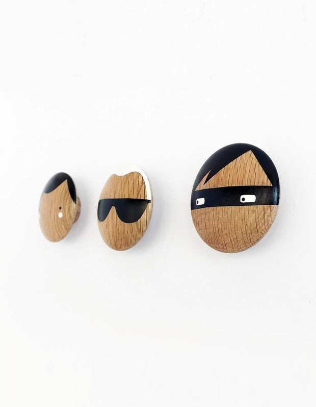Thief Wooden Wall Hook Knob