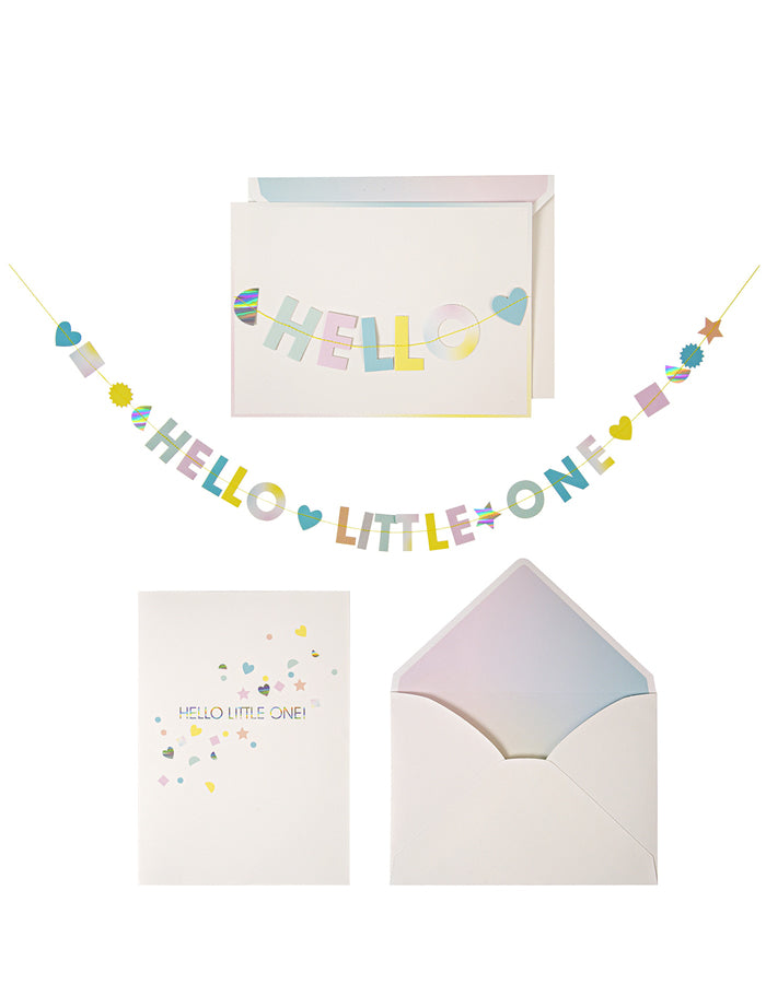 Hello Banner Garland New Baby Greeting Card