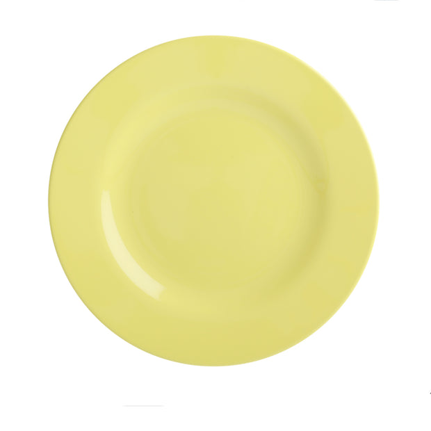 Rice Melamine Plate - Yellow