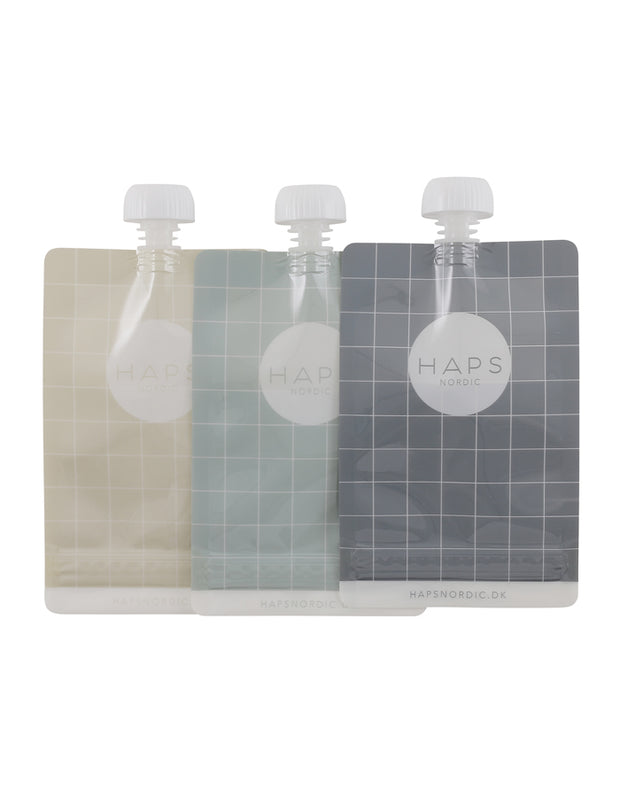 Eco Friendly Smoothie Pouch Set of 3 - Sea