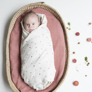 Organic Cotton Rainbow Baby Swaddle Clay