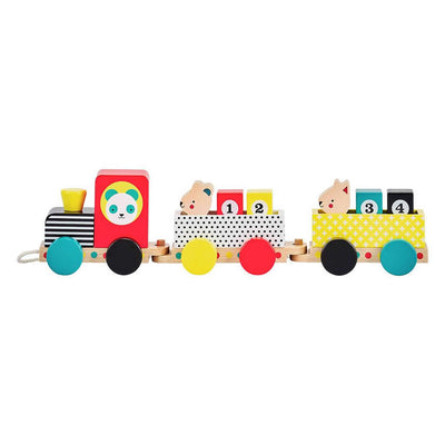 Petit Collage Wooden Pull Along Train Toy