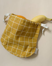 Organic Cotton Fruit / Storage Bag - Clay