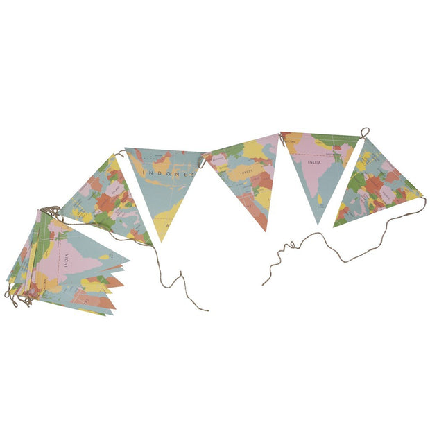 Bunting Garland - World Map