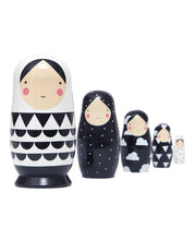 Russian Nesting Dolls - Monochrome