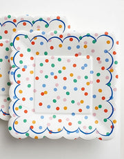 Party Plates Large - Polka Dot
