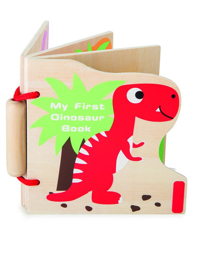 Baby's First Wooden Dinosaur Book