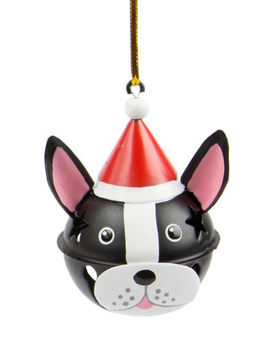 Festive Dog Bell Decoration - Black