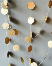 Gold Dot Paper Garland - 5 Meters