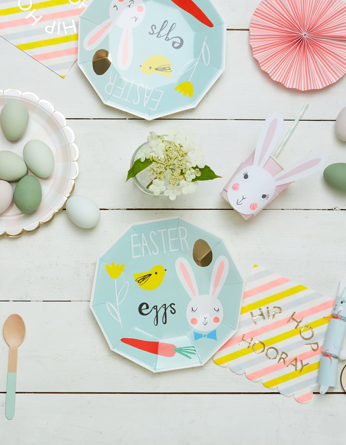 Party Plates - Easter Eggs set of 8