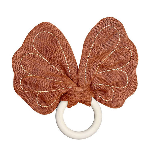 Fabelab Organic Butterfly Teether - Cinnamon