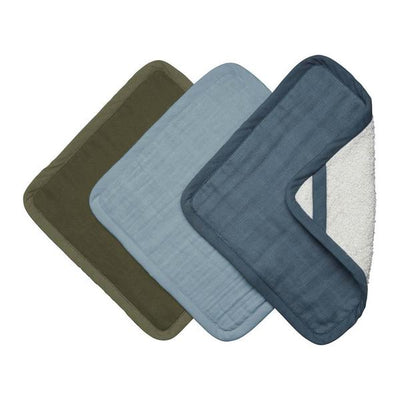 Fabelab Organic Cotton Washcloth Set of 3 - Costal