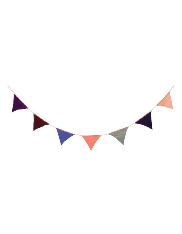 Knitted Bunting Garland - Peach