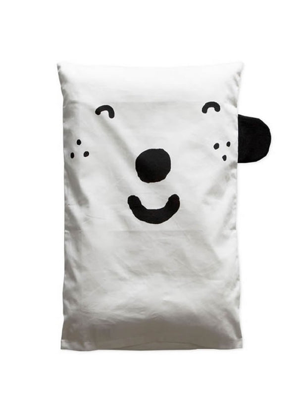 Happy Sad Pillow Case - Blue