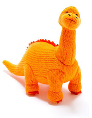 Knitted Diplodocus Dinosaur Rattle
