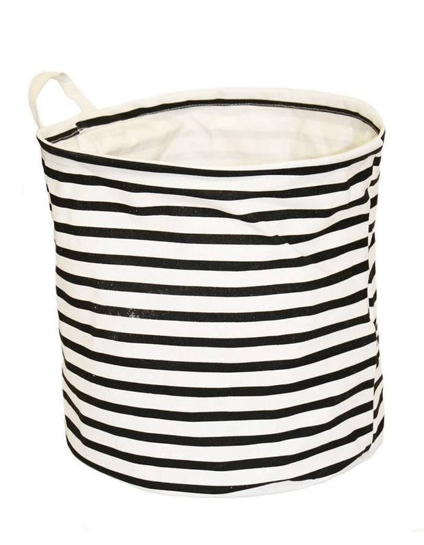 Striped Laundry Basket S