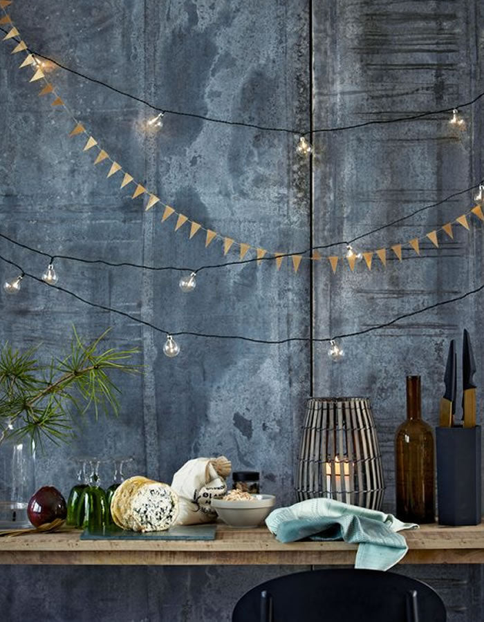 White Flag Paper Garland