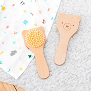 Petit Collage Wooden Bear Baby Brush